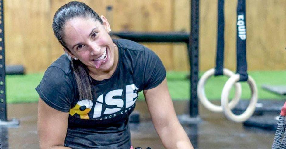 Amalia Ortuño en box de crossfit