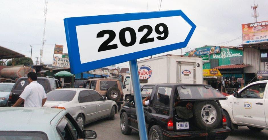 Una señal que dice 2019