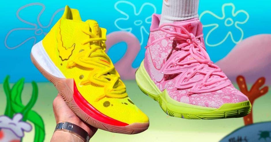 Así son los tenis Nike inspirados en personajes de Bob Esponja