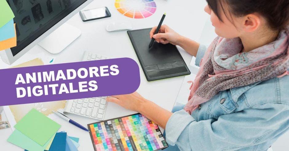 Animadores digitales, diseño, mujeres