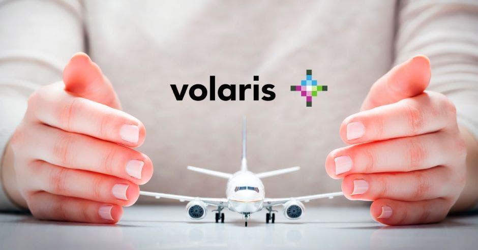 avion blanco, logo de Volaris