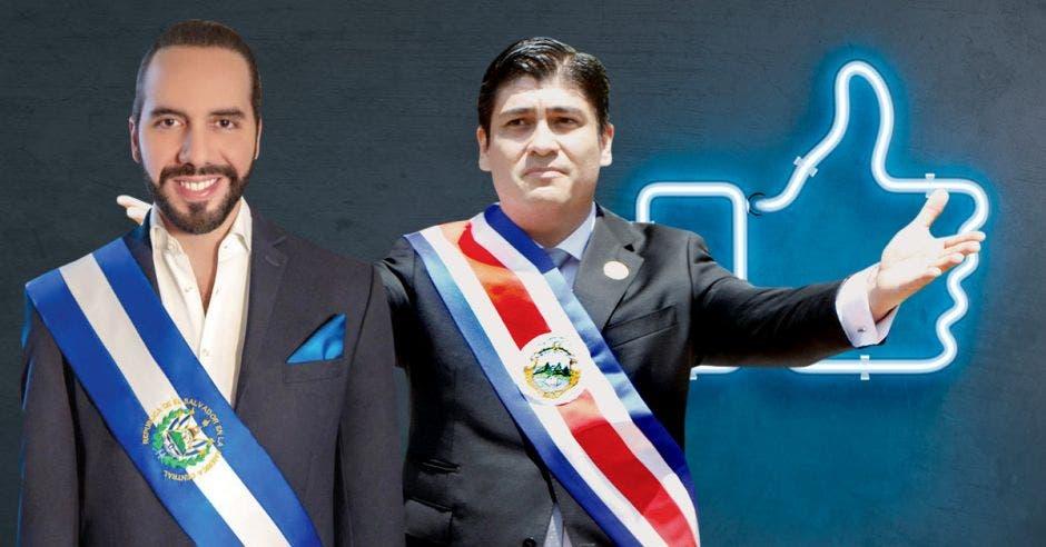 Nayib Bukele y Carlos Alvarado