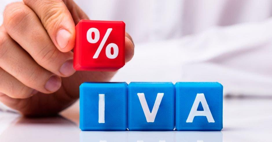 Cubos de colores que forman las siglas IVA