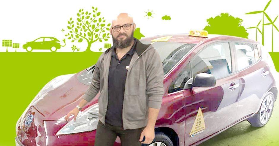 carlos sánchez, taxi electrico