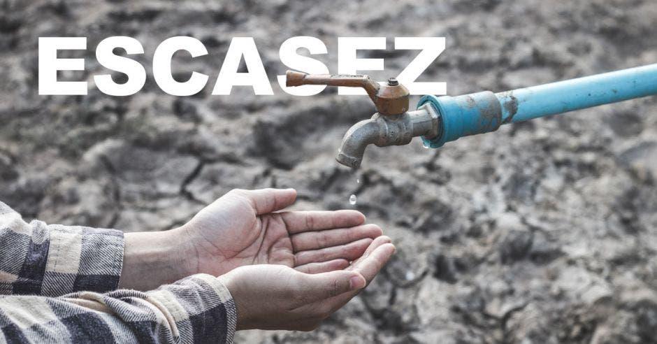 Imagen ilustrativa de la escasez de agua