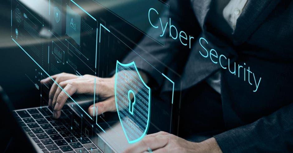 Ciberseguridad, teclado