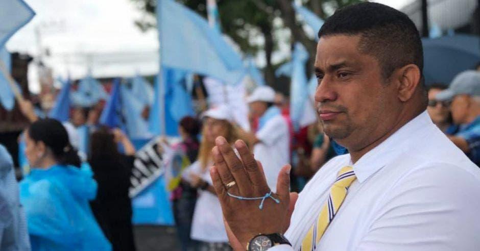 Melvin Núñez en una manifestación contra el aborto