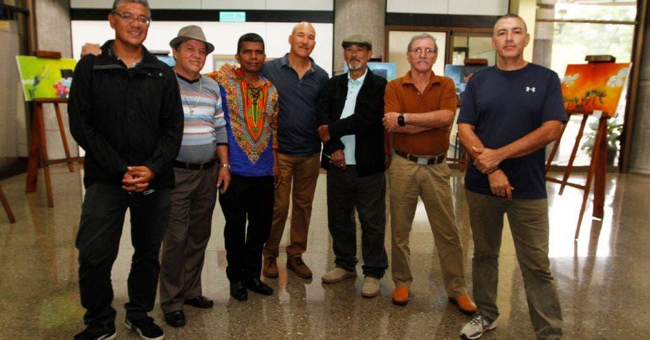Los siete artistas que están exponiendo en el INA