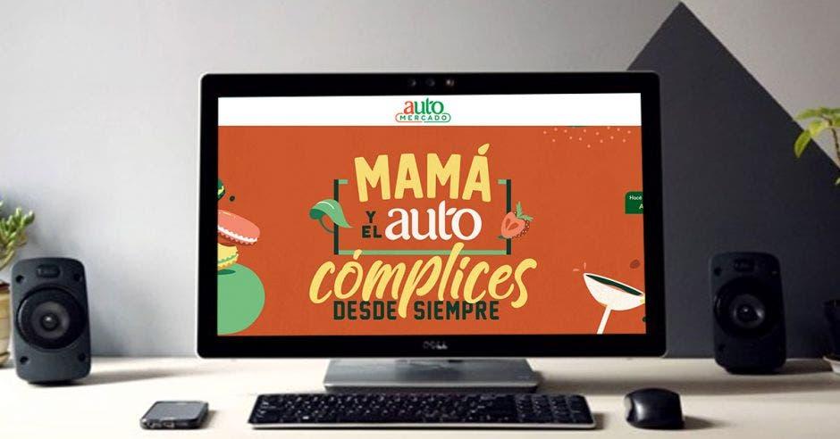 sitio web de Auto Mercado en una compu