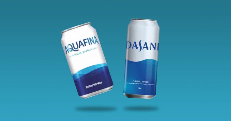 Aquafina y Dasani