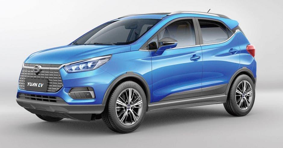 auto azul SUV