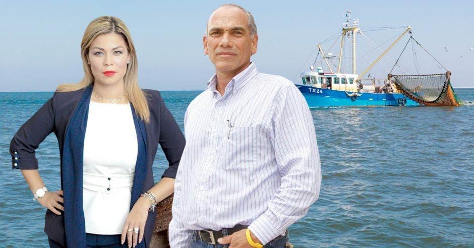 anto Franggi Nicolás, diputada de Liberación Nacional, como Renato Alvarado, ministro de Agricultura y Ganadería, urgen cambios en Incopesca