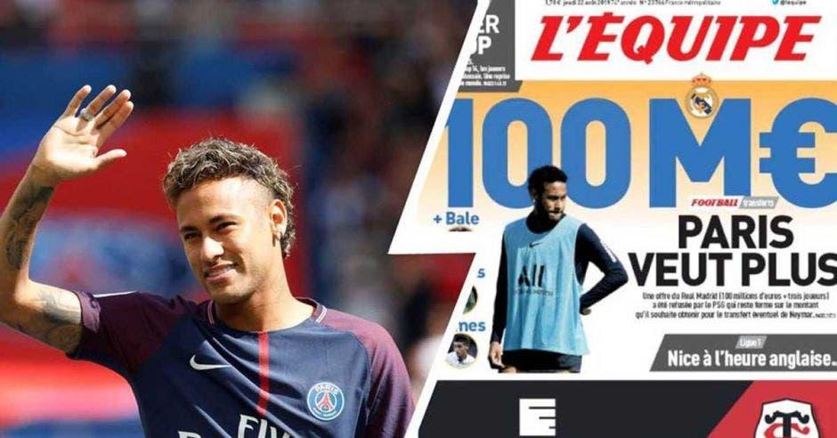 neymar en la portada de un periódico