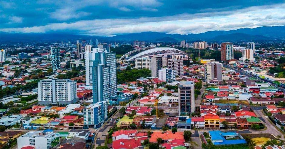 vista aérea de Sabana, estadio, torres, parque