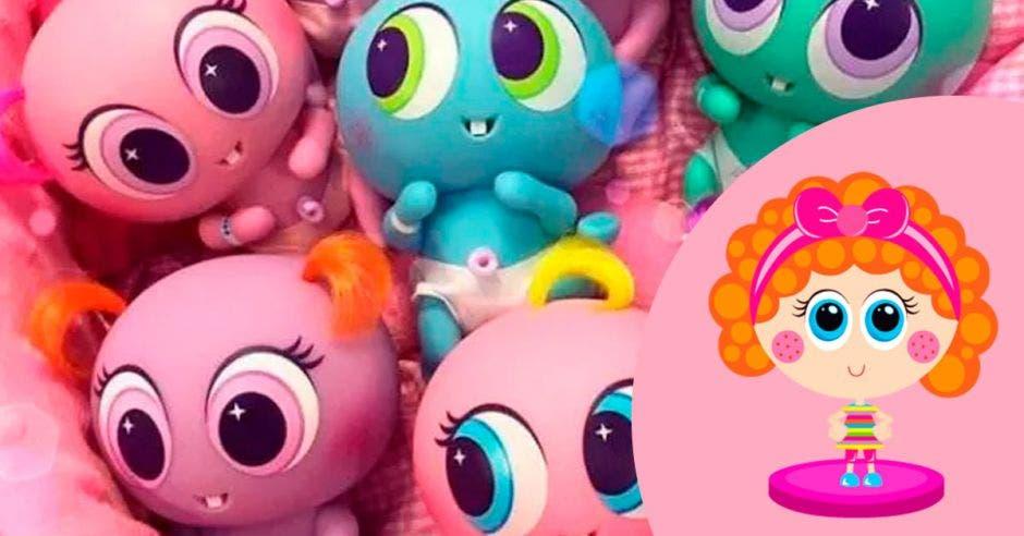 muñecos rosados