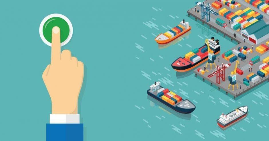El puerto estatal no tiene recursos para pagar el salario de 1.200 empleados, debido a que la carga y descarga de contenedores la está haciendo la empresaAPM Terminals. Archivo/La República