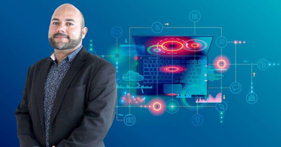El constante cambio en las tecnologías de información le genera al Grupo Babel un proceso continuo de reclutamiento de personal calificado, destacó Esteban Oviedo, director general de la empresa. Cortesía/La República