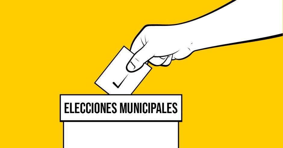 Elecciones municipales, mano, votación