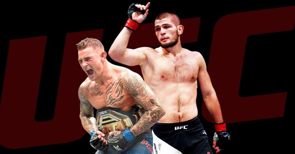 peleadores celebrando