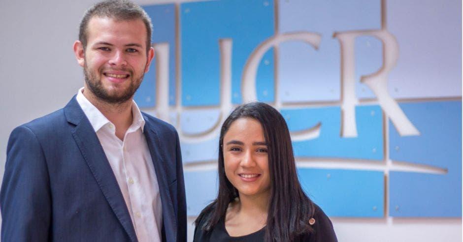 Adriana Salinas y Luis Phillips en la UCR