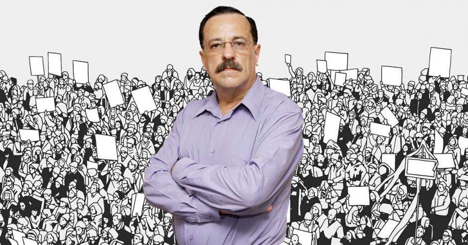 """""""La gente, en algún momento, se dará cuenta del autoritarismo en democracia que nos quieren meter"""", dijo Albino Vargas, secretario de la ANEP. Archivo/La República."""