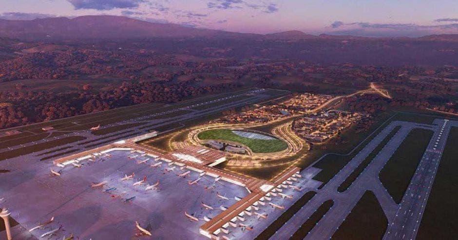 La decisión de suspender el proyecto para construir un aeropuerto internacional en el cantón de Orotina no es compartida en la Cámara Costarricense de la Construcción. Archivo/La República