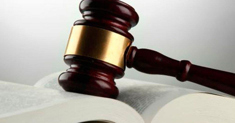 un libro abierto y un mazo de abogado