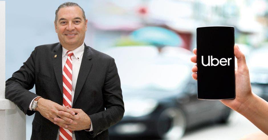 """""""Esta semana, la Comisión se abocará al análisis y dictamen de la propuesta sustitutiva para crear el marco jurídico de regulación para la operación de los servicios de transporte a través de plataformas tecnológicas"""", dijo Roberto Thompson, diputado del PLN. Elaboración propia/La República"""