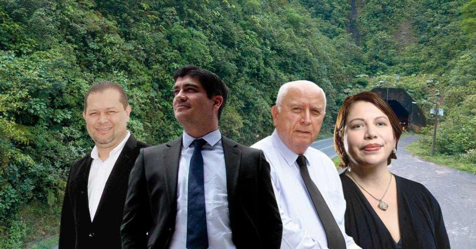 El plan para ampliar a cuatro carriles la vía que atraviesa el Parque Nacional Braulio Carrillo, avanza a buen ritmo, anunció el gobierno el viernes anterior. Archivo/La República