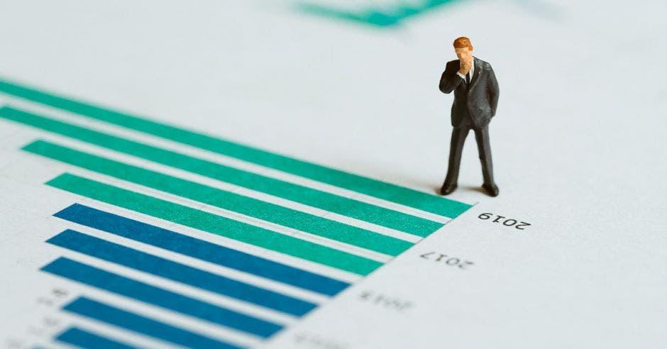 Ilustración de un gráfico financiero