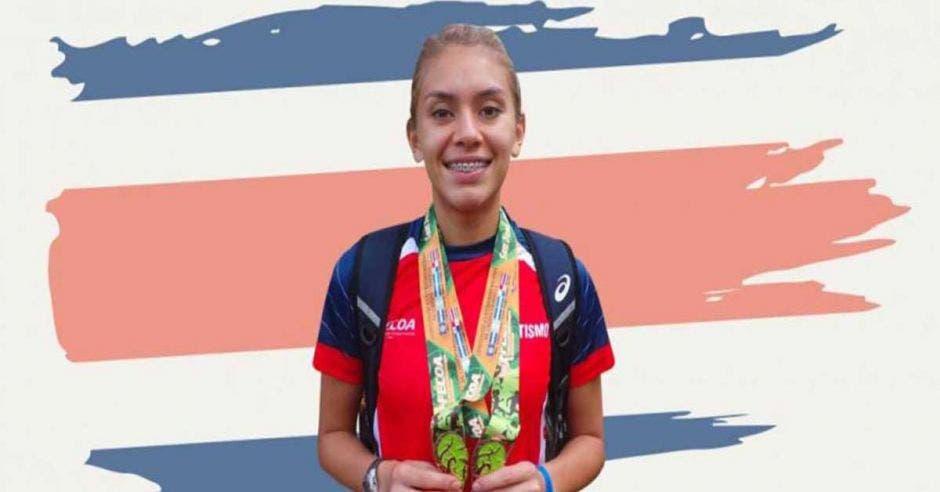 noelia vargas con medallas