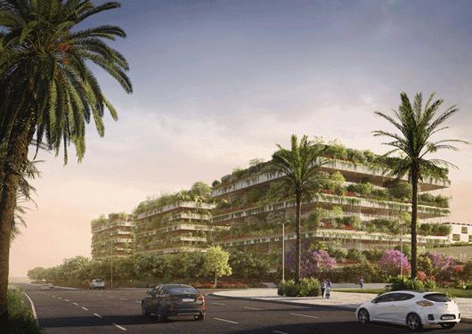 El proyecto contempla tres edificios