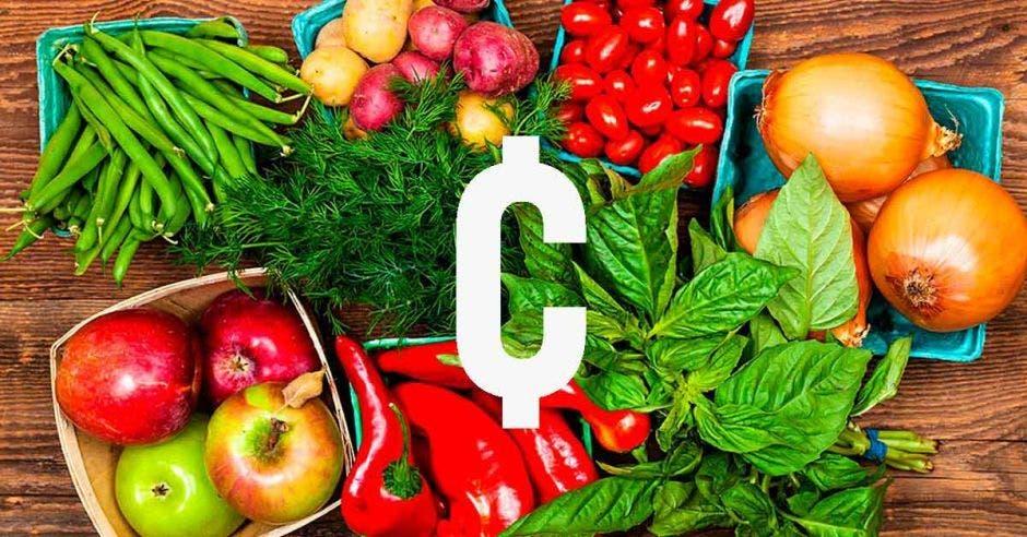 Algunos productos agrícolas como vainicas, chiles, y cebollas