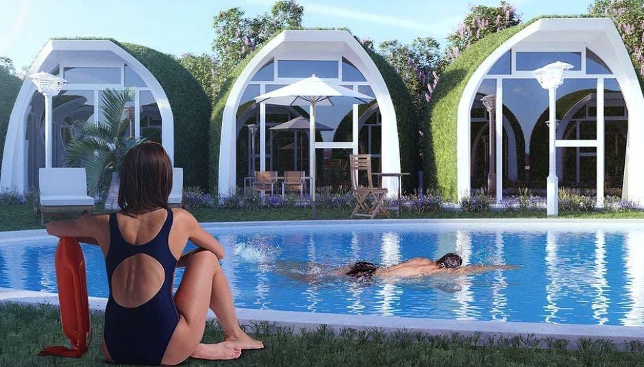 Hotel inspirado en igloos