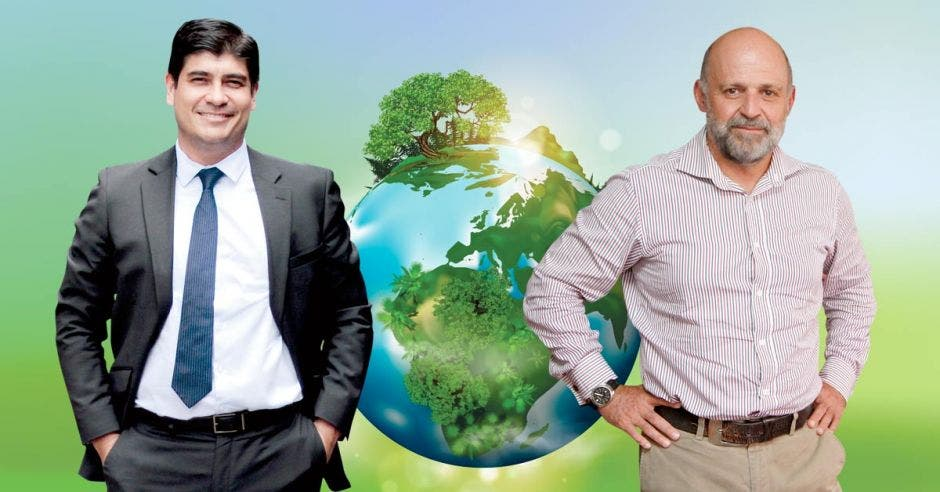 Carlos Alvarado y Carlos Manuel Rodríguez