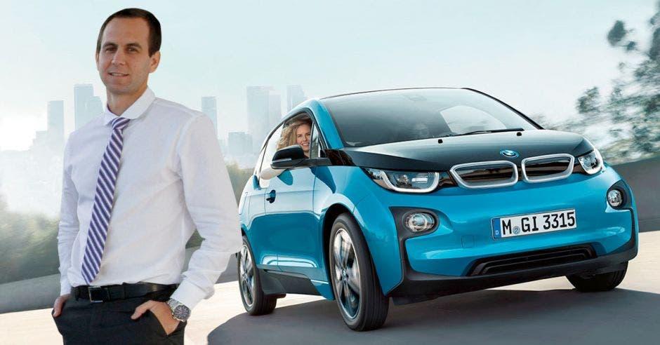 juan ignacio sansó y un i3 BMW