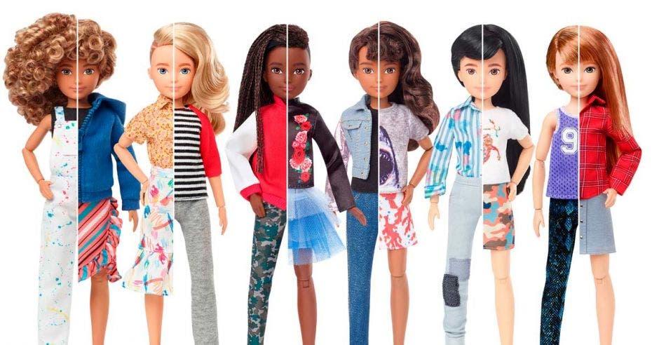 La línea invita a los niños a crear sus propios personajes, con una extensa línea de prendas de vestir, accesorios, pelucas, entre otros. Cortesía Mattel/La República