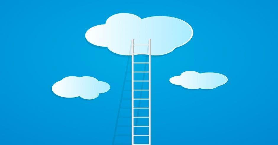 Escalera a nube