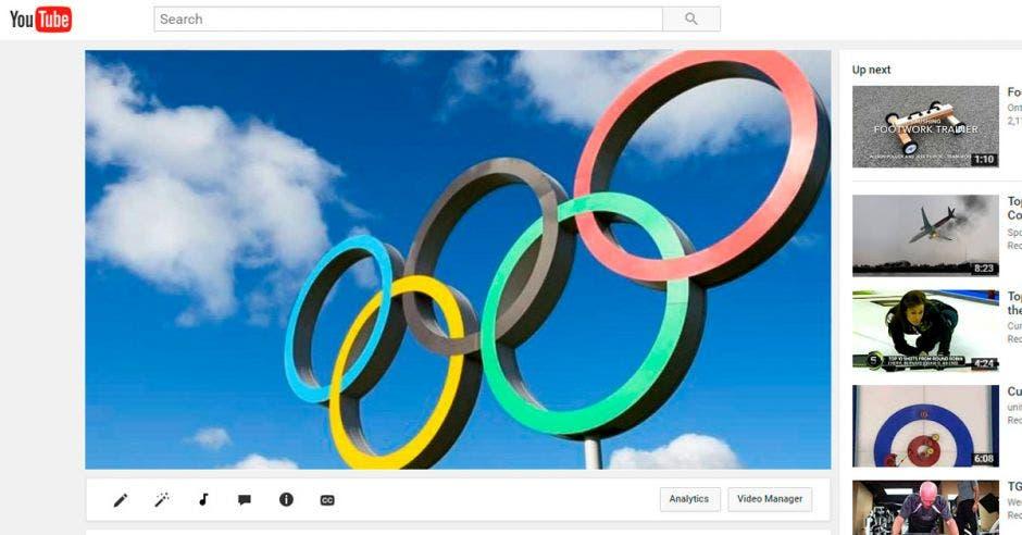 youtube y juegos olimpicos logo