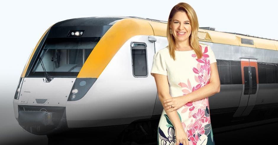 Claudia Dobles, primera dama, lidera el proyecto del tren. Archivo/La República