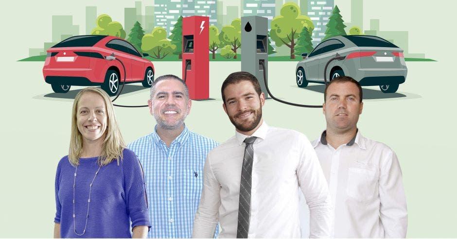 gerentes de carros hombres y mujeres