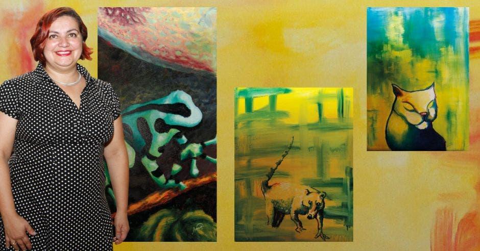 Sonia Mora pinta desde que era una niña. Lo hace en las técnicas de acrílico, óleo y acuarela.