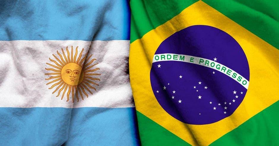 Bandera de Brasil y Argentina