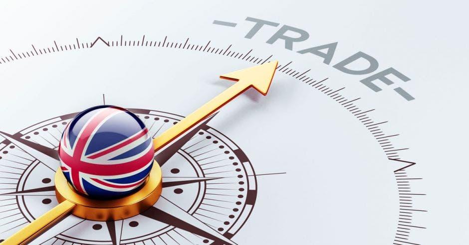 Concepto de comercio con Reino Unido