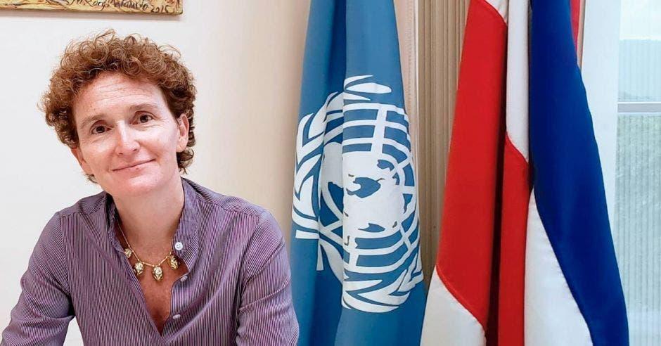 Alice Shackelford, coordinadora residente del Sistema de las Naciones Unidas. Cortesía ONU Costa Rica, aclaró que se trata de posiciones individuales y no la organización/La República