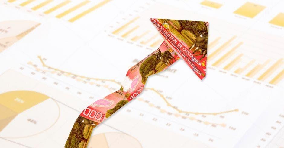 Ilustación de gráfico financiero