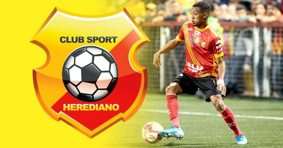 herediano futbolista y logo herediano