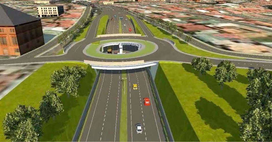 El plan incluye un viaducto nuevo que conecte la rotonda las Garantías Sociales con Hacienda Vieja. Cortesía/La República