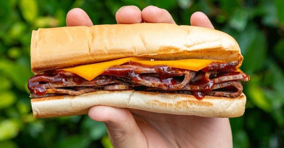 Un sándwich de Roast Beff