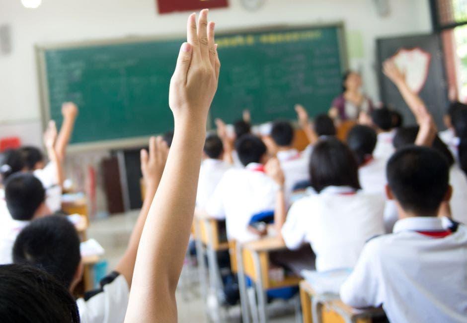 Unos alumnos en una clase